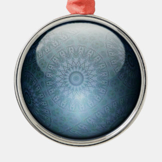 Permascope juvelprydnad rund silverfärgad julgransprydnad