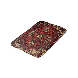 Perser mattar look i kräm- mörk - som är röd och badrumsmatta