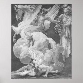 Perseus på Pegasus slaktMedusa Poster