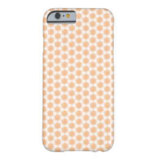Persika/orange blom- design - fodral för iPhone 6 Barely There iPhone 6 Skal