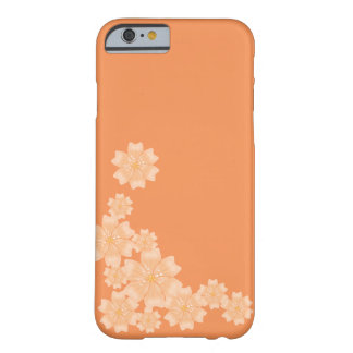 Persika/orange blom- design - fodral för iPhone Barely There iPhone 6 Fodral