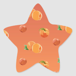 Persikafruktmönster Stjärnformat Klistermärke