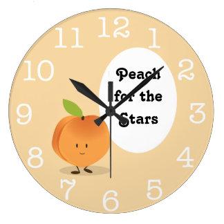 Persikan för rundan för stjärnor | tar tid på stor klocka