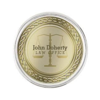 Personalizable eleganta guld- fjäll av rättvisa kavajnål