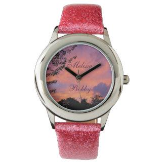 *Personalize* för klockor för sommarsolnedgång