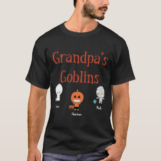 Personalized Grandpa's Goblins T-Shirt