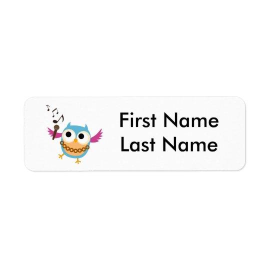 Personifiera barns etiketter för deras saker returadress etikett