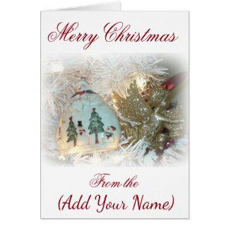 Personifiera denna julkort med ditt namn hälsningskort
