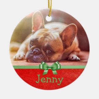 Personifiera denna prydnad med dig husdjur bild julgransprydnad keramik