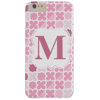 Personifiera det Retro rosa Quatrefoil för Barely There iPhone 6 Plus Fodral
