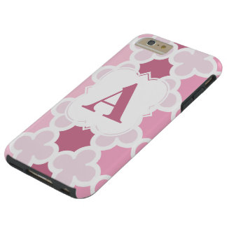 Personifiera det Retro rosa Quatrefoil för Tough iPhone 6 Plus Fodral