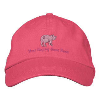 Personifiera en gullig lite gris med din text broderad baseball keps