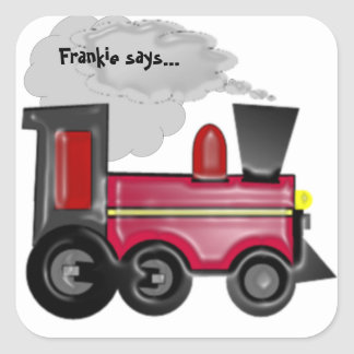 Personifiera en klistermärke för tåg 3D