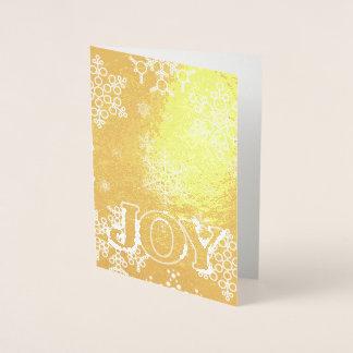 Personifiera glädje av julSnowflakemönster Folierat Kort