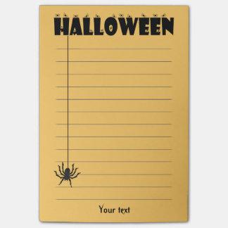 "Personifiera: ""Halloween"" typografi och spindel Post-it Lappar"