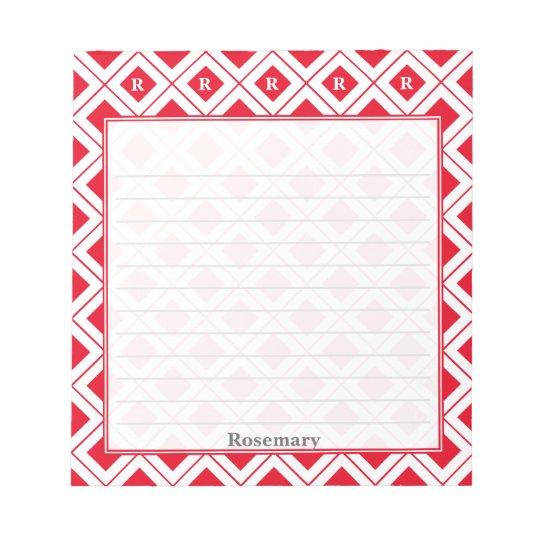 Personifiera: Märka med sina initialer röda/för Anteckningsblock