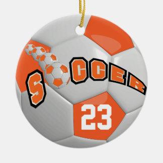 Personifiera orangen för fotbollboll | julgransprydnad keramik