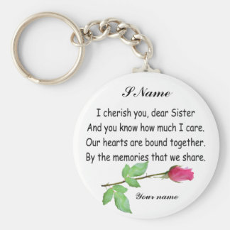 PERSONIFIERA SISTER-KEYCHAIN RUND NYCKELRING