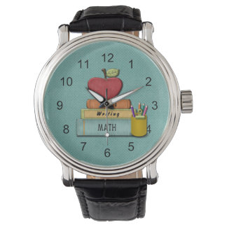 Personifiera Teachers', Apple, bokar och ritar Armbandsur