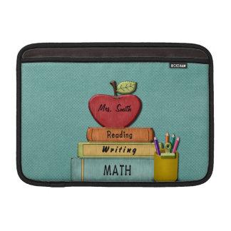Personifiera Teachers', Apple, bokar och ritar Sleeve För MacBook Air
