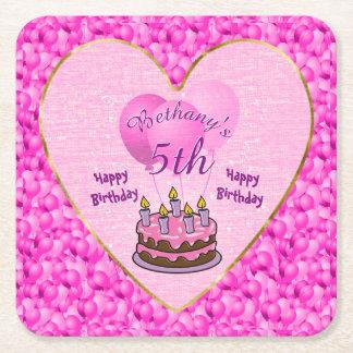 Personifiera texturerade rosor för flickor den 5th underlägg papper kvadrat