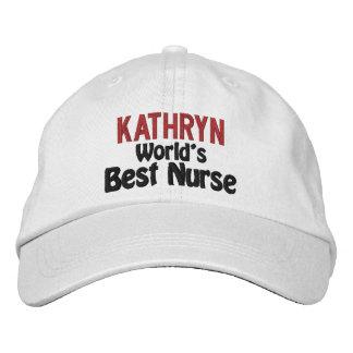 Personifierad bäst sjuksköterska broderad hatt