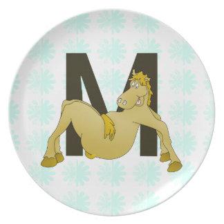 Personifierad böjlig ponny för Monogram M Tallrik