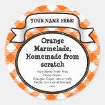 Personifierad burk-/locketikett på burk, orange Gi Klistermärken