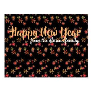 Personifierad chic vykort för nytt år