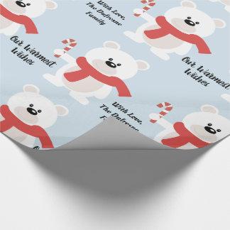 Personifierad festlig björn presentpapper