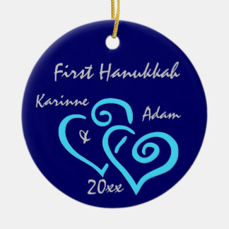 Personifierad första Hanukkah prydnad Julgransprydnad Keramik