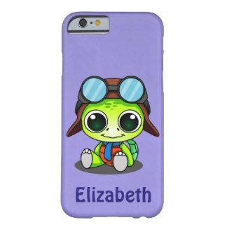 Personifierad gullig Chibi sköldpadda i Barely There iPhone 6 Skal