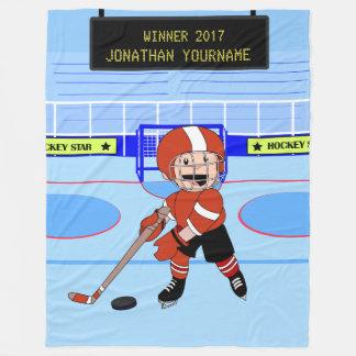 Personifierad gullig ishockeystjärna