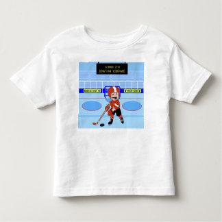 Personifierad gullig ishockeystjärna tee