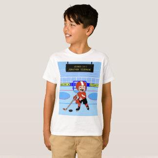 Personifierad gullig ishockeystjärna tröjor