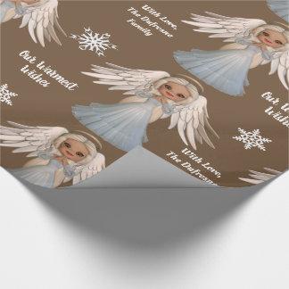 Personifierad härlig ängel presentpapper