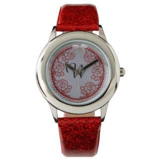 Personifierad initial klocka för röd