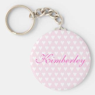 Personifierad keychain för hjärtor för initiala K- Rund Nyckelring