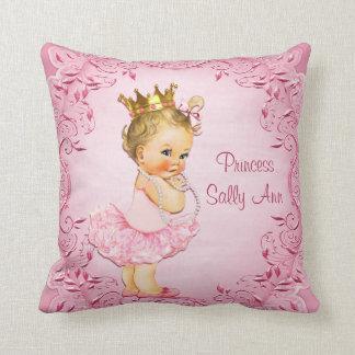 Personifierad lite Princess Ballerina Rosa Prydnadskudde