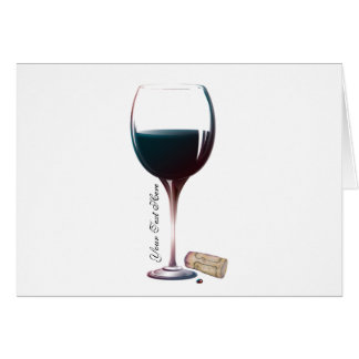 Personifierad logotyp för vinexponeringsglas konst hälsningskort
