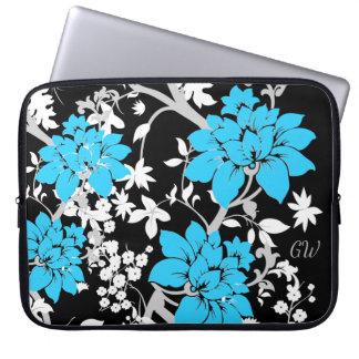 Personifierad modern blommigt laptop sleeve