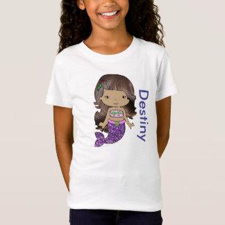 Personifierad organisk sjöjungfruflickaskjorta tröjor