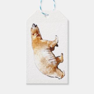 Personifierad polar björn presentetikett