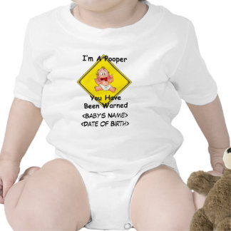 Personifierad rolig nyfödd bebisranka body för baby
