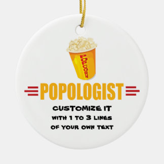 Personifierad rolig Popcorn Julgransprydnad Keramik