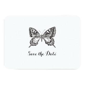 Personifierad spara för klassiker fjäril 8,9 x 12,7 cm inbjudningskort
