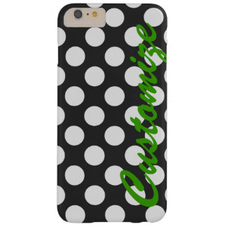Personifierad svartvit polka dots barely there iPhone 6 plus skal