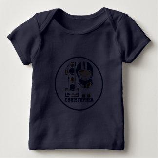 Personifierade 1st födelsedagfotbollsspelareblått tröja