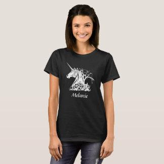 Personifierade läskiga Unicorndöskallarfladdermöss T-shirts