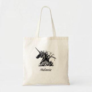 Personifierade läskiga Unicorndöskallarfladdermöss Tygkasse